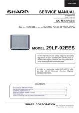 Buy Sharp 29LF92EES Service Manual by download Mauritron #207617