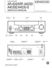 Buy KENWOOD KRF-A4030 Technical Information by download #118746