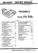 Buy Sharp FO700 Service Manual by download Mauritron #208893