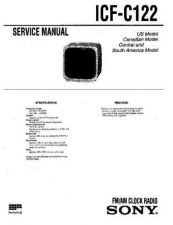 Buy Sony ICF-C122 Manual by download Mauritron #229307