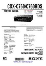 Buy Sony CDX-C610RDSService Manual by download Mauritron #237597