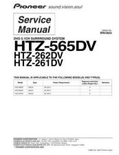 Buy Pioneer HTZ-262DV-1 Service Manual by download Mauritron #234618