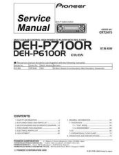 Buy Pioneer DEH-P7100R-2 Technical Manual by download Mauritron #232500