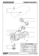 Buy Scalextrix No.435 Ferrari F430 Drift Service Sheets by download Mauritron #2066