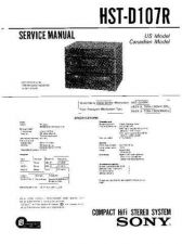 Buy Sony HST-D107R Service Manual by download Mauritron #241382