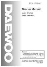 Buy Daewoo. WF200A01_2. Manual by download Mauritron #214022