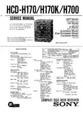 Buy Sony HCD-H1700 Service Manual by download Mauritron #241101