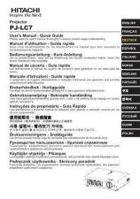 Buy Hitachi PJ750 3 Service Manual by download Mauritron #263720