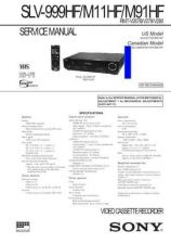 Buy Sony SLV-975HFCS-975HFMX-975HFPX Technical Manual. by download Mauritron #24392
