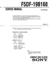 Buy Sony F5DF-19B160 Service Information by download Mauritron #237777