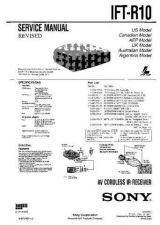 Buy Sony IFT-R10 Service Manual. by download Mauritron #241674