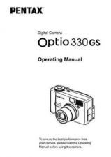 Buy PENTAX OPTIO330GS CAMERA INSTRUCTIONS by download #119090