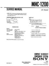 Buy Sony MHC-1600 Service Manual. by download Mauritron #242800
