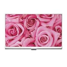 Buy Pink Roses Flowers Business Credit Card Case