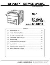 Buy Sharp SF2025S2 Service Manual by download Mauritron #210474