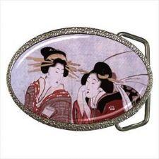 Buy Japan Japanese Geisha Women Vintage Art Belt Buckle