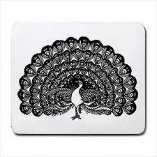 Buy Peacock Bird Art Computer Mouse Pad