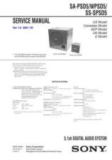 Buy Sony SA-PSD5WPSD5 Service Information by download Mauritron #238014