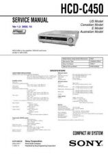 Buy Sony HCD-C450.. Technical Information by download Mauritron #235667