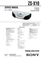 Buy Sony ZS-X10 Service Manual by download Mauritron #241983