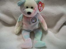 Buy Collectible TY Beanie Baby BB Birthday Bear /Christmas/ stuffed No DOB on tag