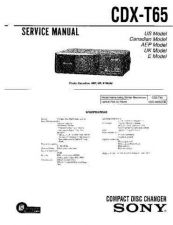 Buy Sony CDX-SW200 Service Manual by download Mauritron #238636