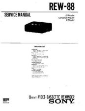 Buy Sony REW-88 Technical Manual. by download Mauritron #243620