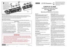 Buy Hornby 4-6-0 Castle Class Maintenance Sheets by download Mauritron #206675