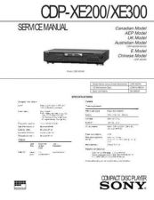 Buy Sony CDP-XE200 Service Manual by download Mauritron #237408