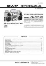Buy Sharp CDDVD500 Service Manual by download Mauritron #208592