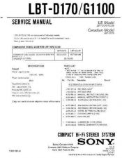 Buy Sony LBT-D170 Service Manual by download Mauritron #241753