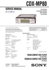 Buy Sony CDX-M8810-M8815X Service Manual by download Mauritron #238618