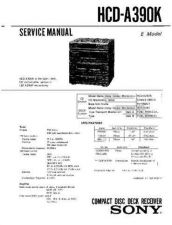 Buy Sony HCD-A390K Service Manual by download Mauritron #240875