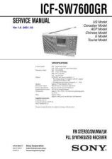 Buy Sony ICF-SW7600GR Service Manual. by download Mauritron #241657