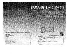 Buy Yamaha T-1020 Operating Guide by download Mauritron #250034