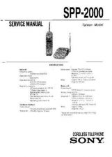 Buy Sony SPP-2000-2010 Service Manual. by download Mauritron #244368