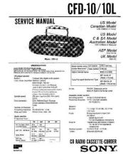 Buy Sony CFD-10-10L Manual by download Mauritron #228267