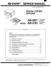 Buy Sharp ARDU1 Service Manual by download Mauritron #208243