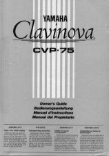 Buy Yamaha CVP75E 1 Operating Guide by download Mauritron #247302
