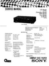 Buy Sony CDP-209ES-790 Service Manual by download Mauritron #231661