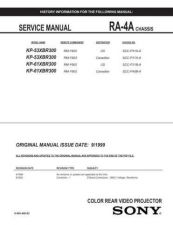 Buy Sony KP-61XBR200 Manual by download Mauritron #229400