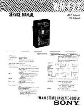 Buy Sony WM-F27 Service Manual. by download Mauritron #245714