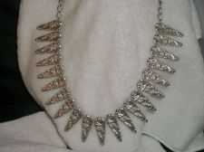 Buy Vintage Silver Toned Hammered unique spike Necklace Tribal/Egyptian/Bib Necklace