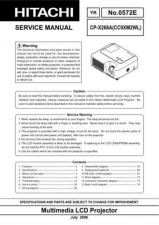 Buy Hitachi CP-X328 Service Manual by download Mauritron #261079
