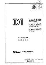 Buy NIKON D1 Parts List by download Mauritron #265956