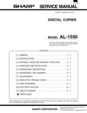 Buy Sharp AL1550 (1) Service Manual by download Mauritron #208001
