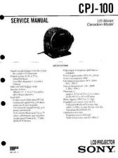 Buy Sony CPJ-100 Service Manual by download Mauritron #239321
