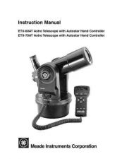 Buy Meade Instruments ETX60AT Instruction Manual by download Mauritron #230693