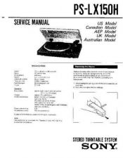 Buy Sony PS-LX150 Service Manual. by download Mauritron #243540
