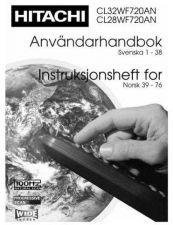 Buy Hitachi CL28WF720AN SV Manual by download Mauritron #224391